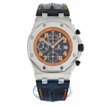 Audemars Piguet Royal Oak Offshore Chronograph Volcano 42MM Stainless Steel Black Dial Alligator Strap 26170ST.OO.D101CR.01 JYH743 - Beverly Hills Watch Company