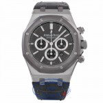 Audemars Piguet Royal Oak Messi Stainless Steel Slate Dial Tantilum Bezel Alligator Strap 26325TS.OO.D005CR.01 WKVT6A - Beverly Hills Watch Company Watch Store