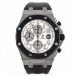 Audemars Piguet Royal Oak Offshore 44MM Chronograph Stainless Steel White Dial 25940SK.OO.D002CA.02A ZZQ1LF - Beverly Hills Watch Company