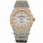 Audemars Piguet Royal Oak 41mm Rose Gold Silver Dial 15400SR.OO.1220SR.01 1VKFVM - Beverly Hills Watch Company
