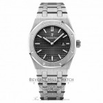 Audemars Piguet 33mm Royal Oak Ladies Quartz Black Dial 67650ST.OO.1261ST.01 49634T - Beverly Hills Watch