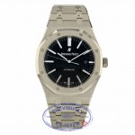 Audemars Piguet Royal Oak 41MM Stainless Steel Black Dial 15400ST.OO.1220ST.01 55E3P1 - Beverly Hills Watch Company