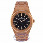 Audemars Piguet Royal Oak 41MM Rose Gold Black Dial 15400OR.OO.1220OR.01 N072WW - Beverly Hills Watch Company