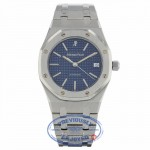 Audemars Piguet Royal Oak Auto 39mm Stainless Steel Blue Checkard Dial 14790ST.OO.0789ST.08 RZ7HJF - Beverly Hills Watch Company