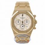 Audemars Piguet Royal Oak Chronograph 18K Yellow Gold Silver Dial 25960BA.00.1185BA.01 46HZKL - Beverly Hills Watch Store