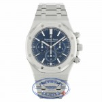 Audemars Piguet Royal Oak Chronograph 41MM Stainless Steel Blue Dial Boutique Edition 26320ST.OO.1220ST.03 V96QHH - Beverly Hills Watch Company