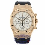 Audemars Piguet Royal Oak Chronograph 41MM 18k Rose Gold Silver Dial 26320OR.OO.D088CR.01 C8A68A - Beverly Hills Watch Company