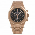 Audemars Piguet Royal Oak Chronograph 41mm Rose Gold Black Dial 26320OR.OO.1220OR.01 VFDC54 - Beverly Hills Watch Company