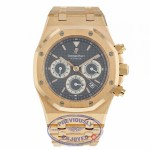 Audemars Piguet Royal Oak 39MM Chronograph Slate Dial Rose Gold Bracelet 25960OR.1185OR.03 L9F394 - Beverly Hills Watch Compnay