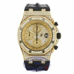 Audemars Piguet Royal Oak Offshore 42mm Yellow Gold Factory Set Diamond Bezel 26067BA.ZZ.D088CR.01 C6QDR7 - Beverly Hills Watch