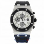 Audemars Piguet Royal Oak Offshore 44MM Chronograph Stainless Steel White Dial 25940SK.OO.D002CA.02A ZJK8XP - Beverly Hills Watch Company