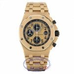 Audemars Piguet Royal Oak Offshore 18k Rose Gold Chronograph Automatic on Bracelet 26470OR.OO.1000OR.01 EHF4X3 - Beverly Hills Watch Company