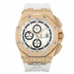 Audemars Piguet Offshore 44mm Rose Gold White Dial White Rubber Strap Summer Edition 26408OR.OO.A010CA.01 1L7312 - Beverly Hills Watch