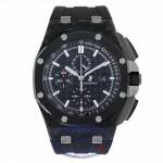 Audemars Piguet Royal Oak Offshore 44mm Forged Carbon Chronograph 26400AU.OO.A002CA.01 1J2VUX - Beverly Hills Watch Company