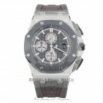 Audemars Piguet Royal Oak Offshore 44mm Titanium and Ceramic Slate Grey Dial 26400IO.OO.A004CA.01 JDXHDL - Beverly Hills Watch