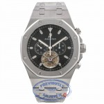 Audemars Piguet Royal Oak Tourbillon Chronograph Hand-Wind Black Dial Stainless Steel Bracelet 25977ST.OO.D002CR.01 8MYMZ9 - Beverly Hills Watch Company Watch Store