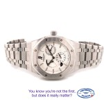 Audemars Piguet Royal Oak Dual Time Power Reserve 39MM Stainless Steel Silver Dial 26120ST.OO.1220ST.01 0LLQCK - Beverly Hills Watch Company Watch Store