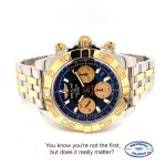 Breitling Chronomat 41 Black Dial 18k Rose Gold Stainless Steel CB014012/BA53 VUHZJX