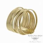 Vermin Twirl Bunched Bangle Bracelet 18k Yellow Gold Naira & C VQDRWL - Beverly Hills Watch