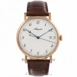 Breguet Classique 38MM 18k Rose Gold White Dial Automatic 55 Hour Power Reserve 5177BR299V6 XFR6JQ - Beverly Hills Watch Company Watch Store