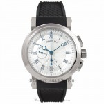 Breguet Marine 18K White Gold Chronograph Rubber Strap 5827BB/12/9Z8 6JGY4U - Beverly Hills Watch Company Watch Store
