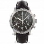 Breguet Transatlantique Type XXI Flyback 42.5MM Stainless Steel Ruthenium Dial Brown Alligator Strap 3810st/92/9zu WH0NFA - Beverly Hills Watch Company Watch Store