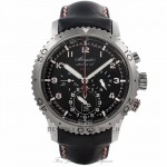 Breguet Transatlantique type XXII Flyback Chronograph 44mm Stainless Steel Case Black Leather Strap Black Dial Watch 3880-STH-23X Beverly Hills Watch Company Watches