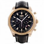 Breitling Bentley Barnato Black Dial Rose Gold Black Alligator Strap R2536824/BB12 - Beverly Hills Watch Company Watch Store