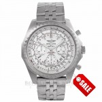 Breitling Bentley Motors T Speed Stainless Steel Chronograph Silver Dial A2536513/G675 N7L26H - Beverly Hills Watch Company