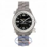 Breitling Emergency Quartz Chronometer Chronograph 42mm Titanium Black Dial Bi-Directional Rotating Bezel Bracelet Folding Clasp Safty Latch E7632110/B576 632YDK - Beverly Hills Watch Company