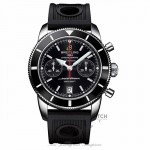 Breitling Superocean Heritage Chronograph 44MM Black Dial Black Rubber Strap A2337024/BB81 VQKAB2 - Beverly Hills Watch Company Watch Store