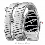 Bulgari Serpenti Stainless Steel Diamond Bezel Double Spiral 102441 W009RD - Beverly Hills Watch Company