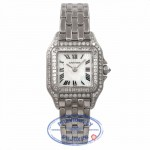 Cartier Panthere 18K White Gold Diamond Bezel A6DJK5 - Beverly Hills Watch Store