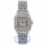 Cartier Panthere Ladies White Gold Diamond Bezel White Dial WF3091F3 LFENVW - Beverly Hills Watch Store