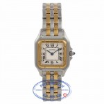 Cartier Panthere Ladies Small Yellow Gold Stainless Steel Silver Dial Bracelet W25029B6 DJQ8WQ - Beverly Hills Watch Company Watch Store