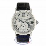 Cartier Rotonde 42mm Automatic Silver Dial Black Leather W1556368 WACYEP - Beverly Hills Watch