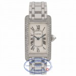 Cartier Tank Americaine 18KT White Gold Diamonds WB7018L1 4W425R - Beverly Hills Watch Store
