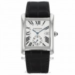 Cartier Tank MC  Stainless Steel Silver Dial Watch W5330003 P4VUCD - Beverly Hills Watch Company