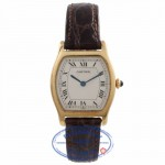 Cartier Yellow Gold Tortue Manual Wind White Roman Dial Vintage Watch