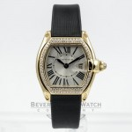 Cartier Roadster Yellow Gold Diamond Bezel Ladies Watch WE500160 Beverly Hills Watch Company Watches