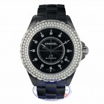 Chanel J12 42MM Black Ceramic Case Diamond Bezel Black Diamond Dial H2014 N65CLH