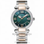 Chopard Imperiale 36mm Green Dial Diamond Two Tone Ladies 388532-6009 F7QV08 - Beverly Hills Watch Company