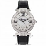 Chopard Imperiale 36MM 18k White Gold Diamond Bezel Silver Mother of Pearl Dial 38/4221-1001 TGBKRI - Beverly Hills Watch Company Watch Store