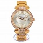 Chopard Imperiale 40mm Rose Gold Diamond Bezel Mother of Pearl Dial 38/4241-5004 FL8AM8 - Beverly Hills Watch Company