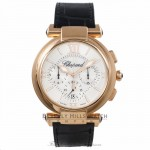 Chopard Imperiale Chronograph 18k Rose Gold Mother of Pearl Dial 384211-5001 DK1VYV - Beverly Hills Watch Company Watch Store
