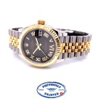 Rolex Datejust 31mm Steel and Yellow Gold Dark Grey Diamond Six Dial 278273 DA429L - Beverly Hills Watch Company