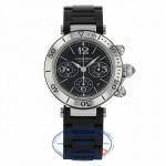 Cartier Pasha Seatimer Chrono 42.5mm W31088U2 - Beverly Hills Watch