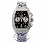 Franck Muller Conquistador King Stainless Steel Chronograph Black Dial 8005 CC KING HN5LYD - Beverly Hills Watch Company