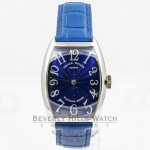 Franck Muller Curvex White Gold Blue Dial Watch 5850 SC