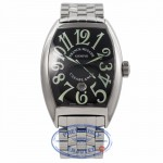 Franck Muller Large Casablanca Stainless Steel Black Dial 8880CDTBK 64LFIC - Beverly Hills Watch Company Watch Store